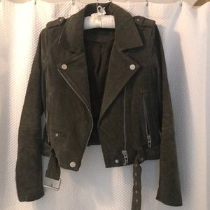 BLANK NYC Suede moto jacket XS like new